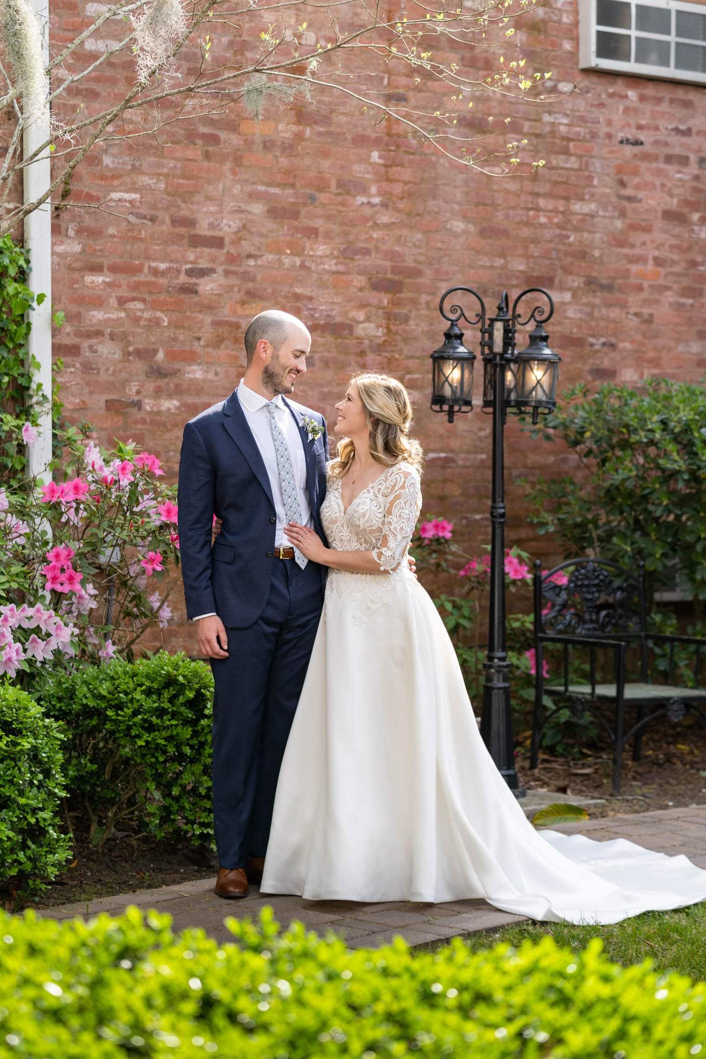 Bride and Groom Garden Wedding
