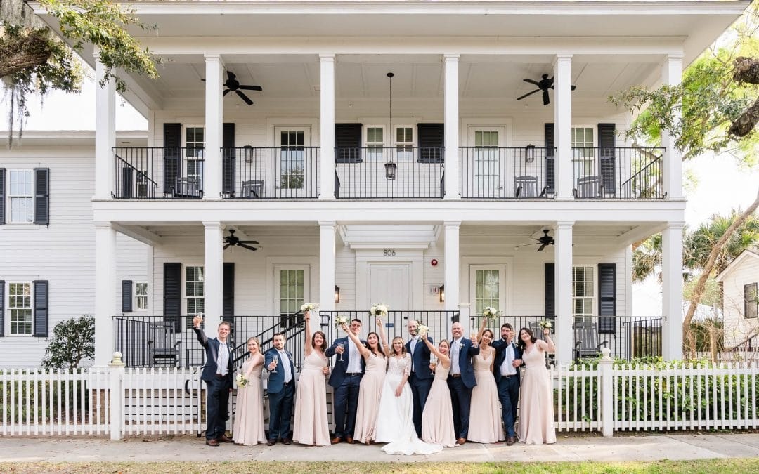Lowcountry Garden Wedding at The Beaufort Inn's Tabby Place