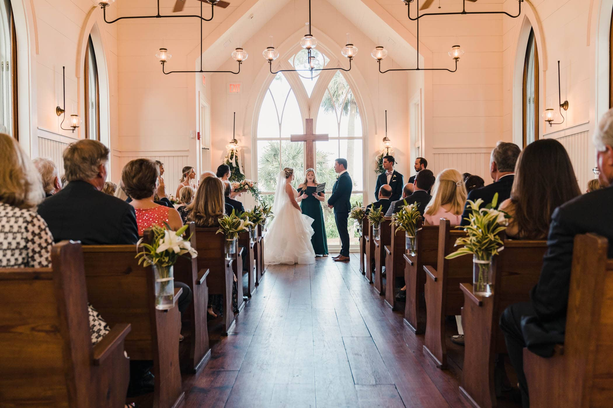 Wedding in the May River Chapel, Palmetto Bluff