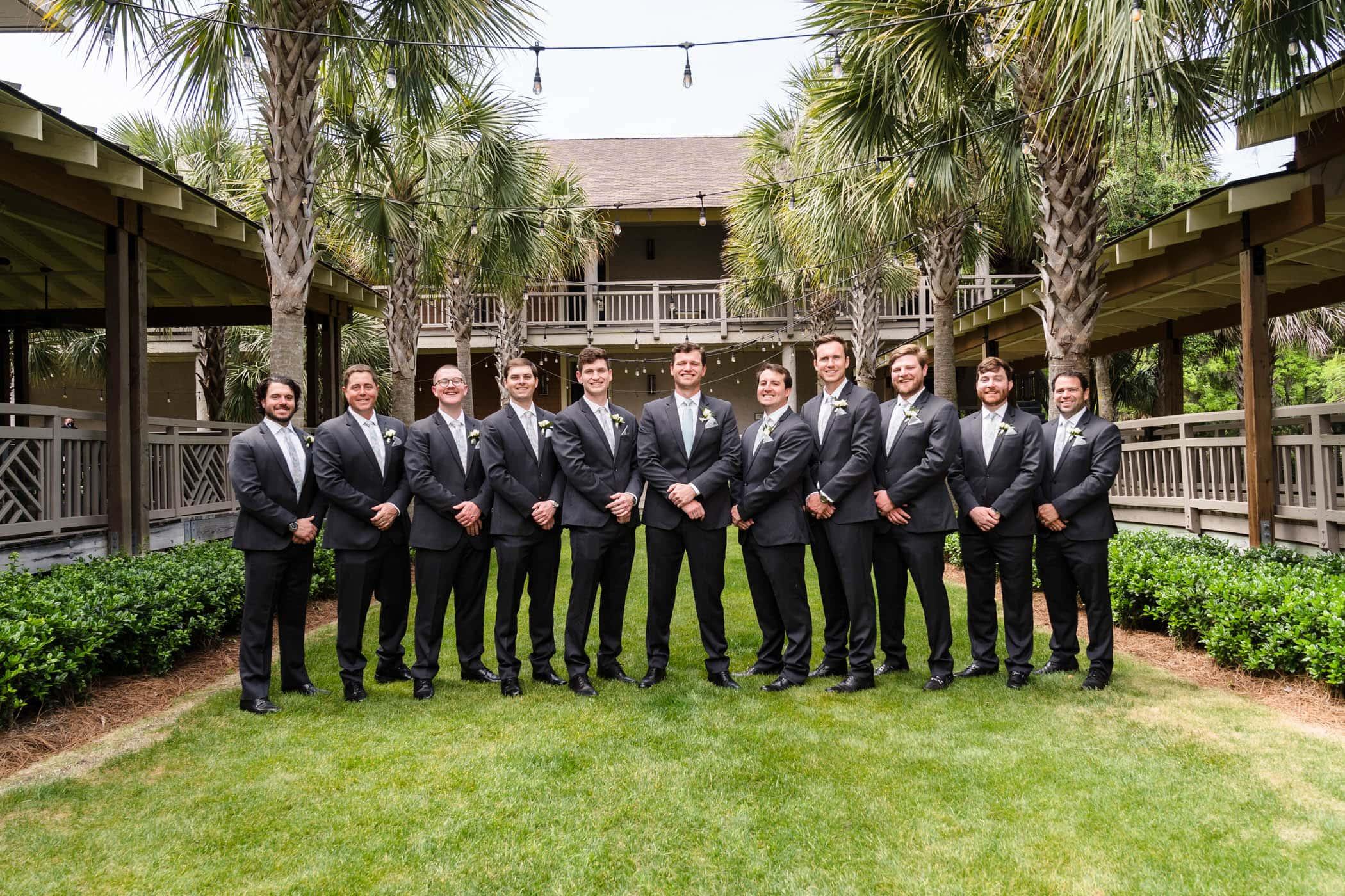 Groom and Groomsmen Omni Hilton Head Ocean Resort Beach Wedding