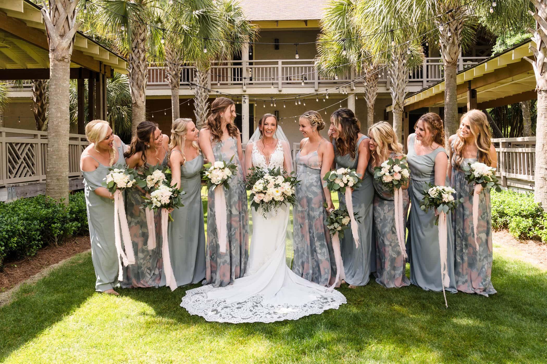 Bride and Bridesmaids Omni Hilton Head Ocean Resort Beach Wedding