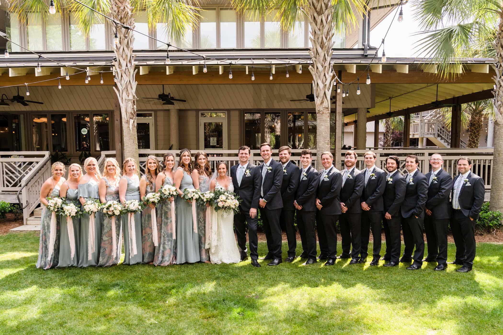 Bridal Party Omni Hilton Head Ocean Resort Beach Wedding