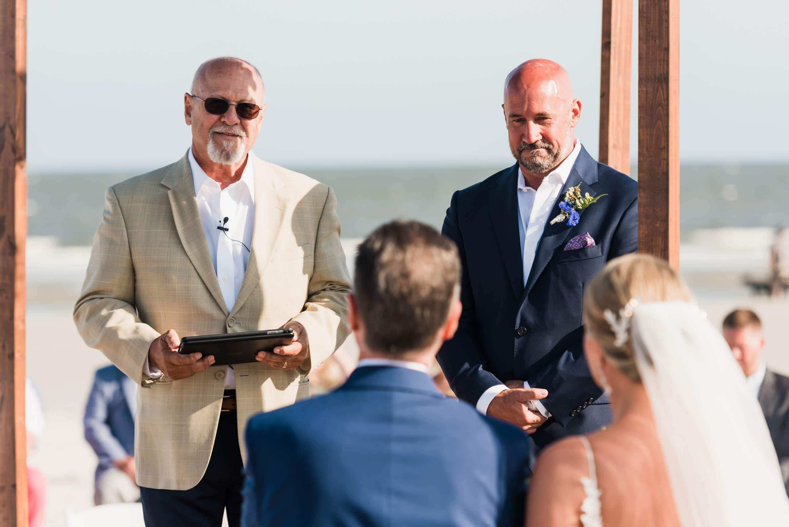 Bride and Groom Beach Ceremony on Fripp Island By Susan DeLoach Photography SC Wedding Photographer