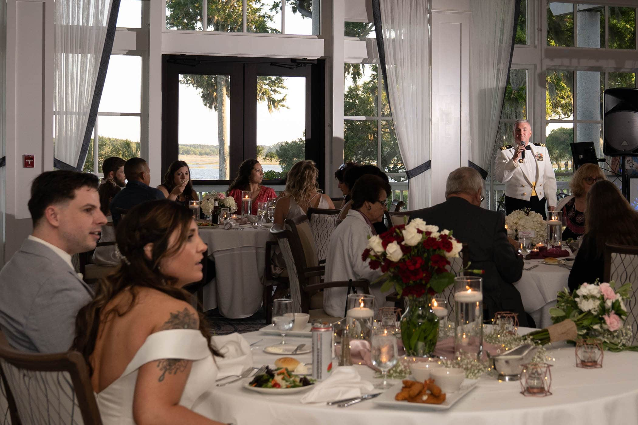Father of the bride giving a speachDataw Island Club House by Susan DeLoach Photography SC wedding photographers