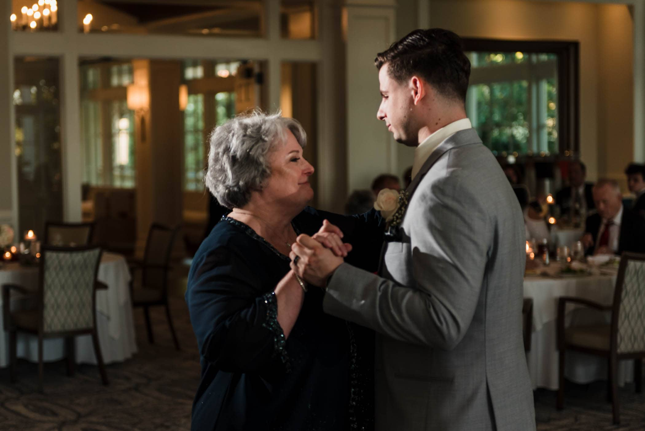 Groom and Mother of the Groom dancing Dataw Island Club House by Susan DeLoach Photography SC wedding photographers