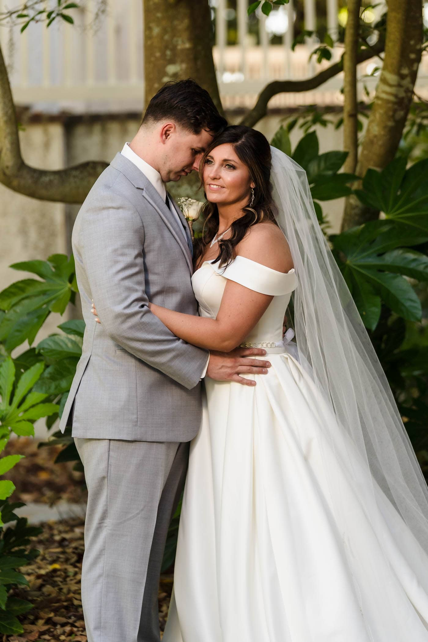 Bride and groom portrait by Susan DeLoach Photography SC wedding photographers